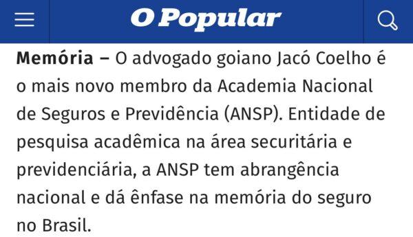 Jacó Coelho Academia Nacional de Seguro e Previdência Social